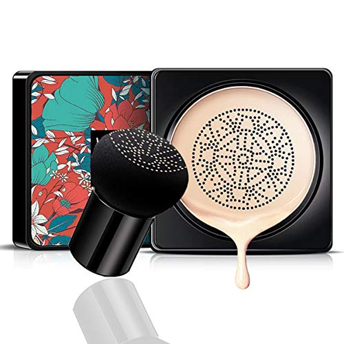 Mushroom Air Cushion CC Creme Feuchtigkeitsspendende Concealer Make-up-Basis Grundierung anhaltend warmen Hautton Nude Face (Elfenbein weiß)