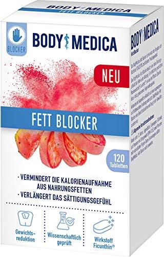 BodyMedica Fett Blocker, zur Gewichtskontrolle im Rahmen einer fettbewussten Ernährung, Fettblocker vermindert Kalorienufnahme aus Nahrungsfetten, unterstützt fettreduzierte Diät, 1 x 120 Tabletten