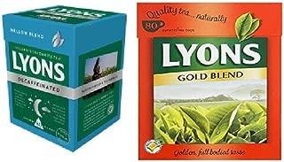 Lyons Decaffeinated Irish Tea 80 Bags +LYONS TEA BAGS GOLD BLEND 80'S