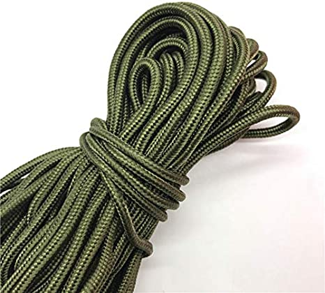 LLAAIT 10Yards//Lot 2mm Solid Parachute Cord Lanyard Rope Mil Spec Type One Strand Climbing Camping Survival Equipment Paracord,Gray