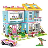 Kith Friends House Building Blocks Toy Family Friends Party Creative Building Block Play Toy House with Sports Car for Girls Boys Kids Gift and Roleplay Fun 1009 Pieces