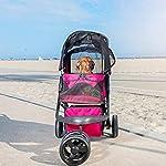 PETIQUE Razzberry Pet Stroller, Razzberry, One Size (ST01100103) 15