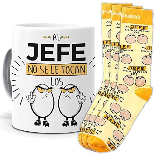 mundohuevo Trio de calcetines mas taza o cojin, originales y personalizados, ideal para regalo. 1 calcetin gratis por el que se te pierde