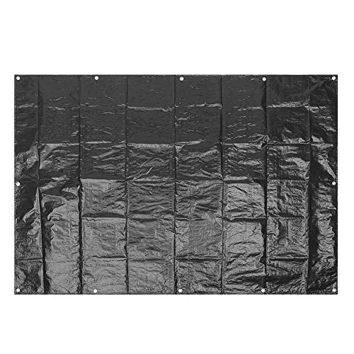 JFFFFWI Lona de Lona Lona Impermeable Grande Sombrilla de Tela Toldo Toldo a Prueba de Polvo Refugio para Exteriores Accesorios para toldos 2 Colores y 2 tamaños (Tamaño: 3 MX 2 m Negro)