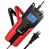 GOOLOO 6V/12V Smart Battery Charger and Maintainer 6-Amp Full Automatic 6-Stages Trickle Charging with Clamps for Car,Motorcycle,Lawn Mower,Boat RV,SUV,ATV,Sealed Lead Acid Battery-Repair Batteries