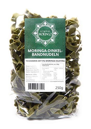 ORIGINAL MORINGO Dinkelnudeln| 250g | mit 5% handverlesenem Moringa Oleifera Blattpulver