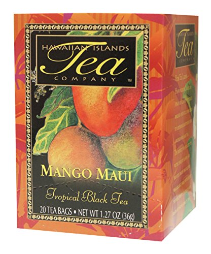 Hawaiian Islands Mango Maui Tropical Black Tea, All Natural - (20 Tea Bags Per Box)