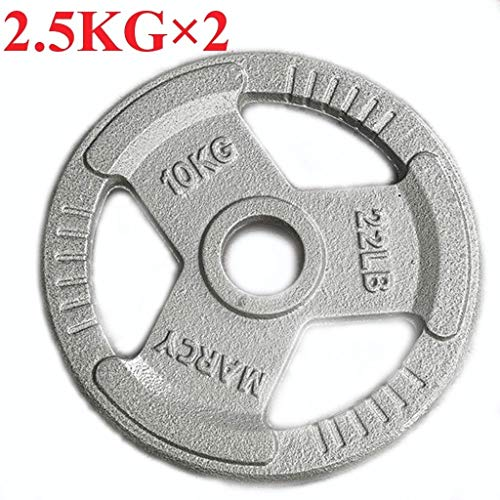 TMY Durable Weight Plates Cast Iron Tri-Grip Olympic Plate Weight Plate 2-Inch Center Hole Barbell Weight Plates for Home Gym Strength Training Barbell Plates (Size : 2.5KG/5lb*2)