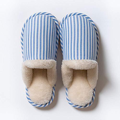 B/H Pantunflas Invierno,Zapatos de algodón de Felpa Antideslizantes, Zapatos de hogar cálidos para Dormitorio-N_43-44,Slippers Suave