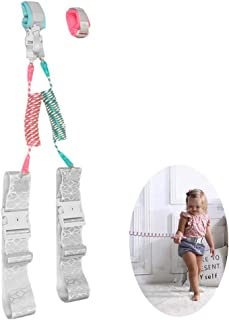 Child Anti Lost Wrist Link Safety 360°Rotate Reflective Wristband, Toddler Harness Walking Leashes Harnesses with Key Lock for Kids, Babies