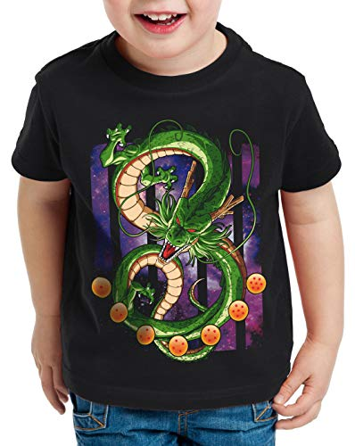 style3 Shenron Dragon T-Shirt pour Enfants shenlong sacré Z Goku Vegeta Roshi Ball, Taille:152