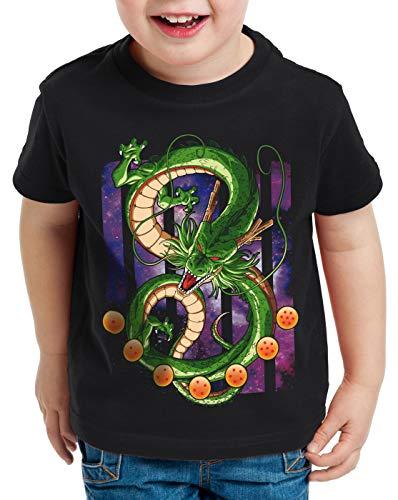 style3 Shenlong Drachen T-Shirt für Kinder Dragon Z Goku Vegeta Roshi Ball, Größe:152