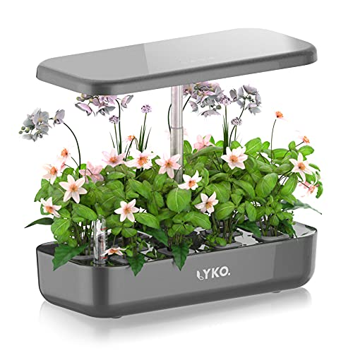LYKO 12Pods Indoor Herb Garden Kit, Hydroponics Growing System with LED Grow Light, Smart Garden...