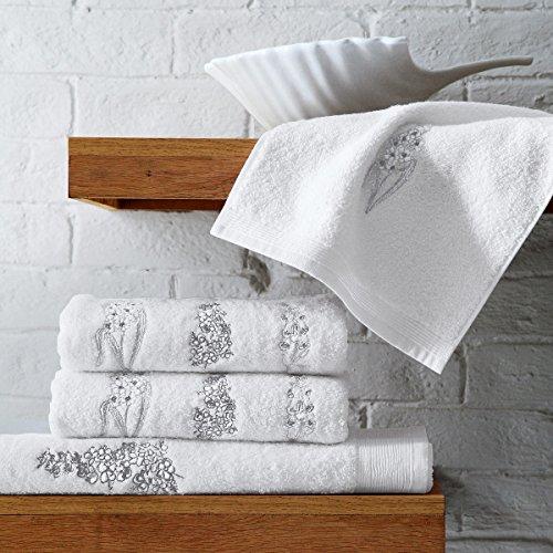 Blanc des Vosges Serviette Blanc 55 x 110 cm