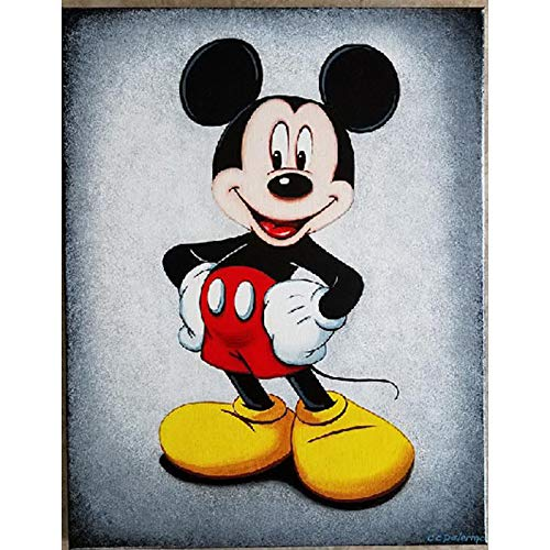 DIY 5D Diamond Painting Kit, 11.8 X 15.75 Mickey Mouse Family Full Drill Crystal Rhinestone Embroidery Cross Stitch Arts Craft Canvas for Home Wall Decor Adults and Kids (Mouse)