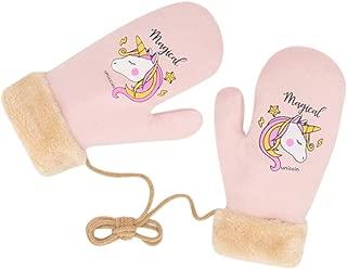 Women Cure Unicorn Warm Winter Gloves Plush Cycling Mittens Fingerless Hand Warmer