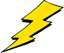 Applicable Pun Yellow Lightning Bolt Comic Book Style Pop Art Retro - Vinyl Decal for Outdoor Use on Cars, ATV, Boats, Windows and More - Color 12 inch