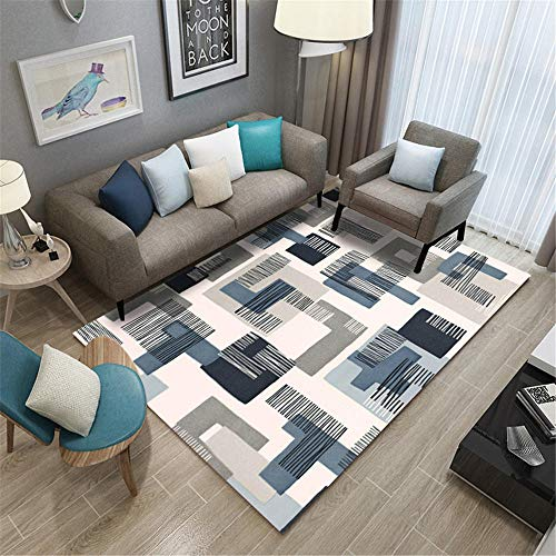 Carpets For Living Room blue Carpet living room gray blue simple geometric pattern anti-dirty carpet durable Bedside Rug 50X80CM Outdoor Rugs Waterproof 1ft 7.7''X2ft 7.5''