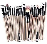 Hosaire Profesional de 20 PC/Base de Maquillaje Sombra de Ojos Cepillo Herramientas Delineador de Ojos Brocha de Maquillaje de Labios