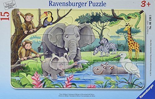 Ravensburger Kinderpuzzle 06136 - Tiere Afrikas - Rahmenpuzzle