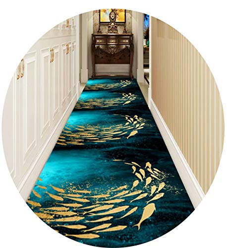 Bunt Fisch Läufer Teppich Flur Teppichläufer, 3D Eingang Matte, Sehr Lang Teppiche Zum Gang Schlafzimmer Küche, Benutzerdefinierte Länge,0.6 * 2m