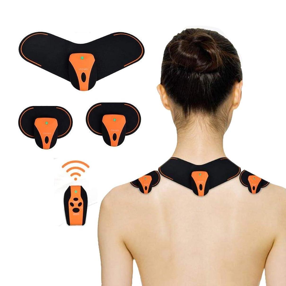 RANRANJJ 首と背中、携帯用充電式ワイヤレスTENSマシン筋肉ディープマッサージのための電気ディープマッサージのためのマッサージは、血液循環を改善する