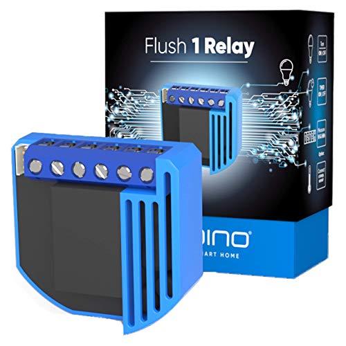 Qubino ZMNHAD1 Flush 1 Schalter Relais Unterputz-Mikromodul EU Z-Wave Plus, Schwarz/Blau