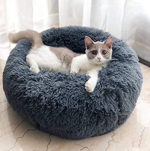 Muswanna ペットベッド ペットクッション ペットソファ ラウンド型 丸型 ドーナツペットベッド ぐっすり眠...