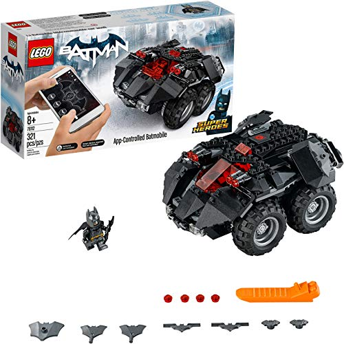 LEGO DC Super Heroes App-controlled Batmobile 76112 Remote Control (rc) Batman Car, Best-Seller Building Kit and Toy for Boys.