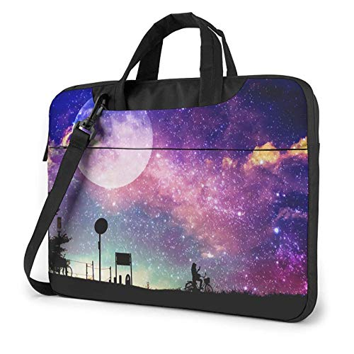 XCNGG Laptop Bag, Moon Among Cloud Business BriefcaseBag Cover for Ultrabook, MacBook, Asus, Samsung, Sony, Notebook 15.6 inch
