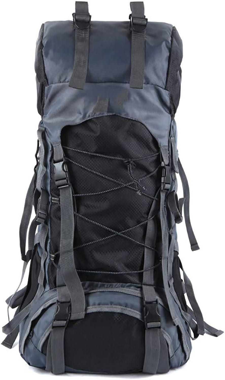 MOREJUN Wandern des Rucksacks, wasserdichtes im Freien kampierendes Trekking-groe Kapazitt-Wasserdichte Bergsteigen-Tasche für Das kampierende Bergsteigen Das Klettern Jagd,schwarz