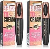 2 Pack 4D Silk Fiber Eyelash Mascara, Extra Long Thick & Voluminous Lash Mascara, Black Long-Lasting...