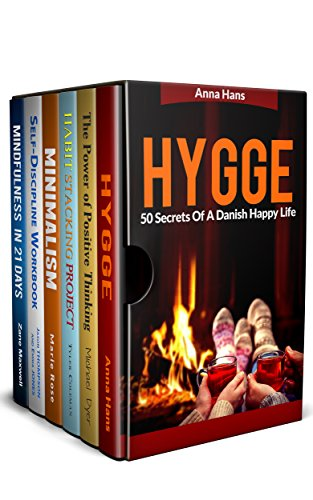Positive Thinking 6 in 1 Box Set: Hygge and 50 Secrets Of A Danish Happy Life,The Power of Positive Thinking,Habit Stacking Project,Minimalism,Self-Discipline ... in 21 days (English Edition)