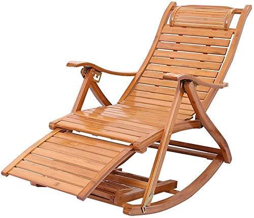WDHWD - Sillón reclinable Chairs, silla reclinable en el exterior, silla reclinable plegable para exteriores, tumbona de playa, silla reclinable Balcone, silla de tumbona interior