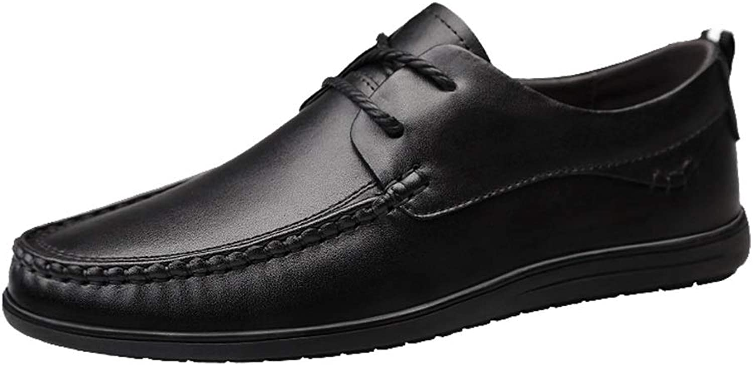 Loafer for Men Lace Up Style Genuine Leather Oxfords Soft Comfortable Hand Sewing Lined shoes (color   Black, Size   9.5 D(M) US)