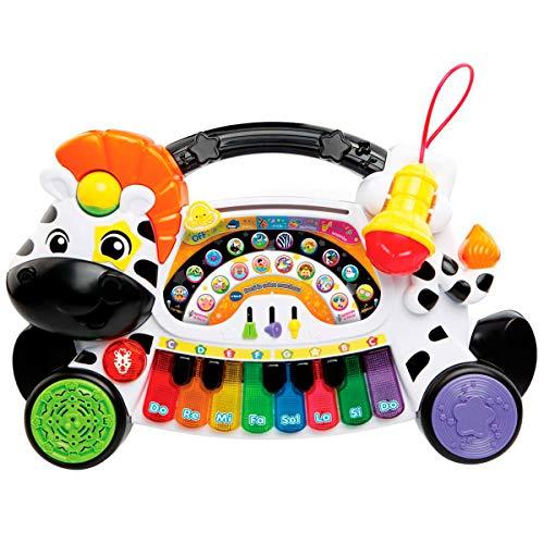 Vtech Remi la Cebra Marchosa 3480-179122 Musikspielzeug / Keyboard zum Erlernen von Musik und Noten, interaktive Tasten, Mehrfarbig, Einheitsgröße