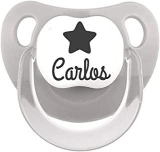 Chupete personalizado con nombre y dibujo estrella tetina ...