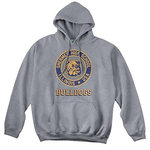 BathroomWall T-shirts Breakfast Club Inspired Shermer HIGH School Brat Pack, Hoodie, Large, Heather Grey