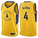 XXMM Camiseta De Baloncesto para Hombre NBA Indiana Pacers # 4 Victor Oladipo, Deportivo Casual, Transpirable, Absorbente De Sudor, Sin Mangas,Amarillo,L(175~180CM)