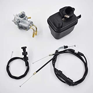 Autoparts Carburetor for Yamaha Y Zinger PW 50 PW50 Air Filter & Throttle Choke Cable