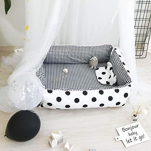ZIXIANG Lits-Cages Baby Lounger Et Partage De Bébé Co Dormant Berceau Bébé 100% Coton Doux Cododo Lit Bébé Lits bébé Berceaux (Color : T7)