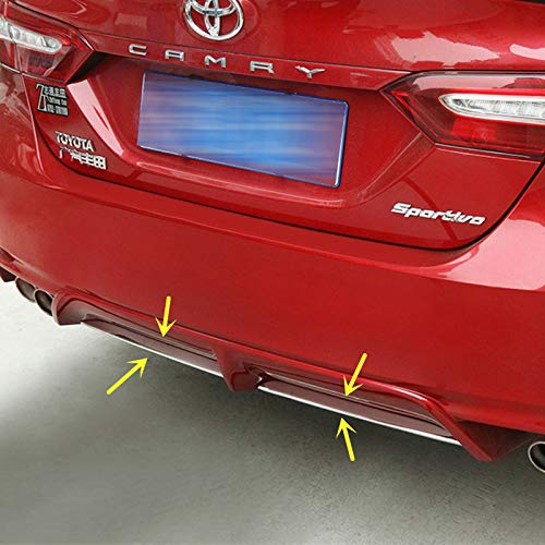 ZiWen New Sport Style Stainless Steel Chrome Rear Bumper Lip Lower Trim for Toyota Camry 2018 2019 2020(SE XSE)