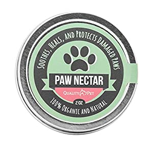Paw Nectar – Dog Paw Balm – Grooming Essential Pet Foot Soother & Moisturizer – 100% Organic All Season Protection Against Heat, Sand, Snow – Heals & Repair Cracked Dry Paws – 2 Oz Wax Shield