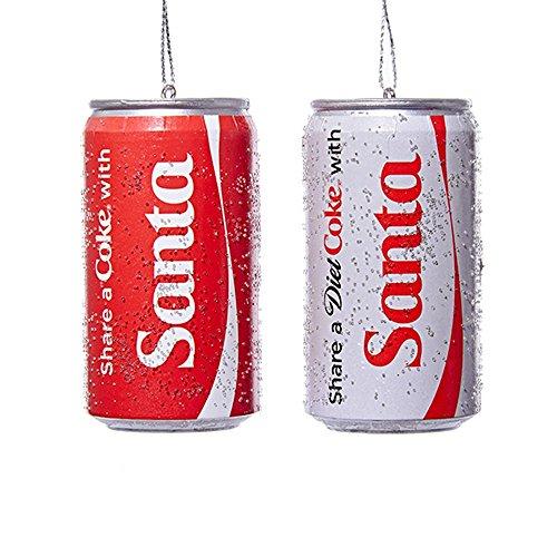 Kurt Adler Condividi una Coca Cola con Babbo Natale Classico e Dieta Coke Can Ornamenti