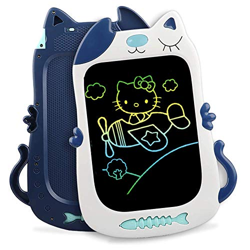 Preisvergleich Produktbild ZYBB 8.5In Kinder Bunte LCD-Schreibtafel Elektronische Grafik Zeichnung Doodle Board Löschbare Tragbare Doodle Mini Board Toy Frühe Pädagogische Schreibtafel Für Kinder Blau