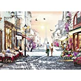 1000 Piece Puzzles for Adults- Romantic Paris- Lovers Walking- Large Size Jigsaw Puzzle Toy-Thick Sturdy Puzzles Piece Fit Together Perfectly