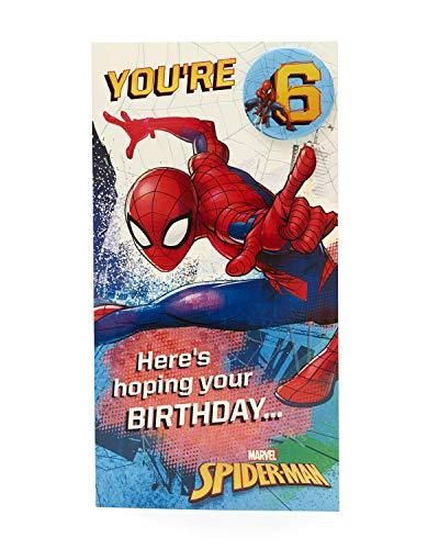 Geburtstagskarte zum 6. Geburtstag – Spiderman – Geburtstagskarte für Jungen