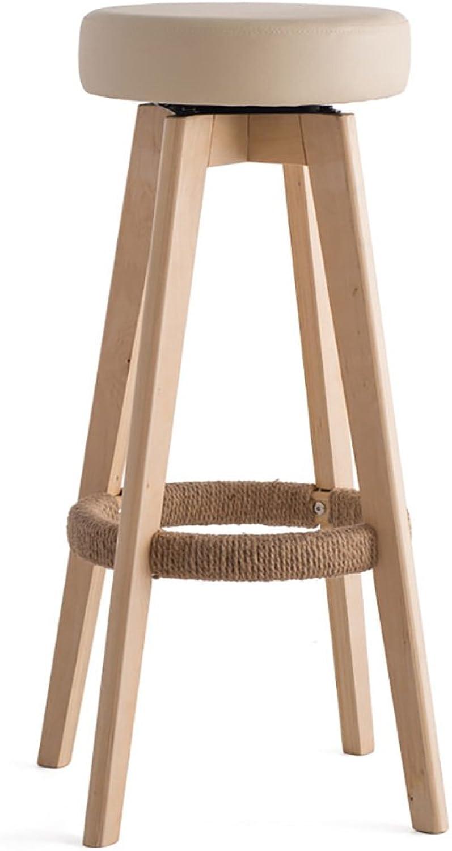 AJZXHE Bar stools bar stools high stools home solid wood stool modern minimalist redation creative chair (color   B, Size   454565.5cm)