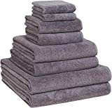 Luxury Extra Large 8-Piece Turkish Towel Set with 4 Bath Towels (30x60 and 24X48) - Grey