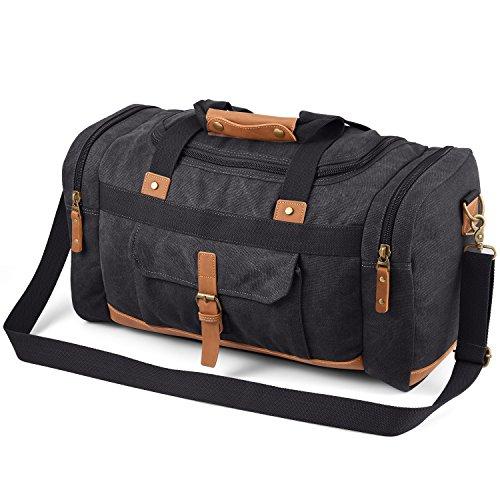 Plambag Canvas Duffle Bag, 50L Large Travel Duffel for...